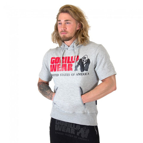 Boston Short Sleeve Hoodie - Grey - Gorilla Wear SA Gorilla Wear SA - Gorilla Wear South Africa