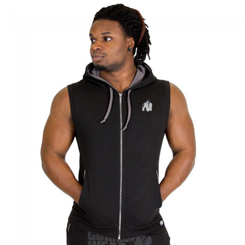 Springfield Sleeveless Hoodie - Black -  Gorilla Wear South Africa