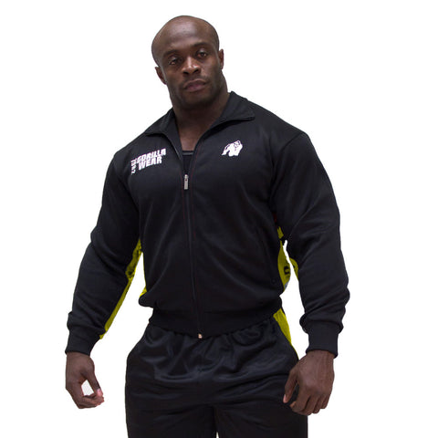 Track Jacket - Black and Yellow - Gorilla Wear South Africa