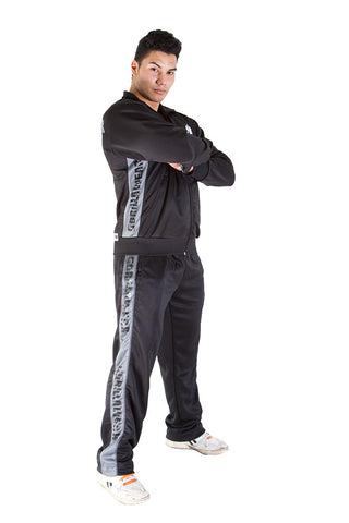 Track Jacket - Black and Asphalt - Gorilla Wear SA Gorilla Wear SA - Gorilla Wear South Africa