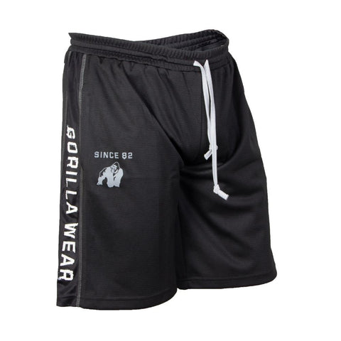 Functional Mesh Shorts - Black and White - Gorilla Wear South Africa