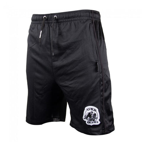 GW Athlete Oversized Sweat Shorts - Black - Gorilla Wear South Africa