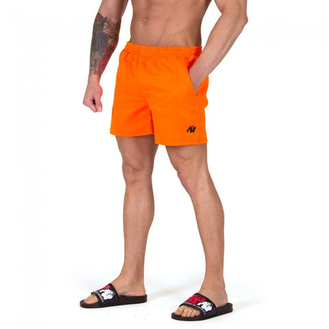 Miami Shorts - Neon Orange - Gorilla Wear SA Gorilla Wear SA - Gorilla Wear South Africa