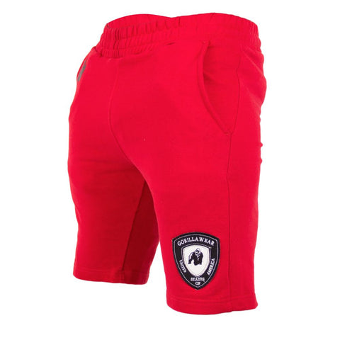 Los Angeles Sweat Shorts - Red - Gorilla Wear South Africa
