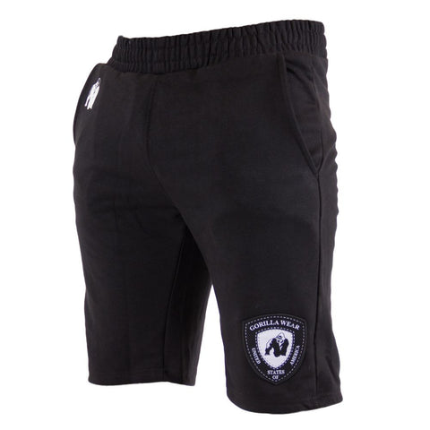 Los Angeles Sweat Shorts - Black - Gorilla Wear SA Gorilla Wear SA - Gorilla Wear South Africa