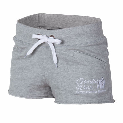 Women's New Jersey Sweat Shorts - Gray - Gorilla Wear South Africa