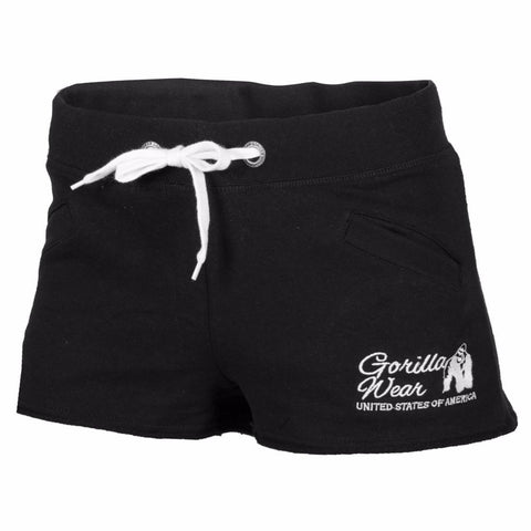 Women's New Jersey Sweat Shorts - Black - Gorilla Wear SA Gorilla Wear SA - Gorilla Wear South Africa