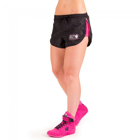 Women's New Mexico Cardio Shorts - Black and Pink - Gorilla Wear SA Gorilla Wear SA - Gorilla Wear South Africa