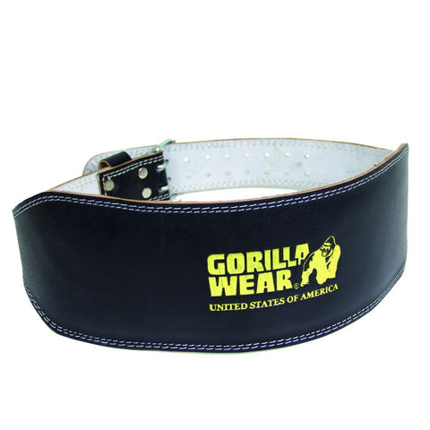 Full Leather Padded Lifting Belt - Black - Gorilla Wear South Africa