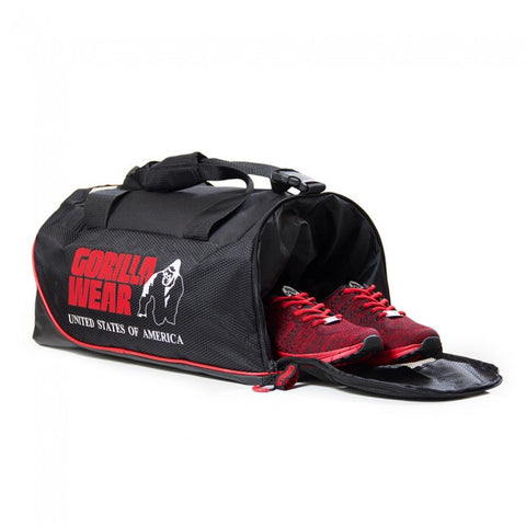Jerome Bag - Gym Bag - Black and Red - Gorilla Wear South Africa