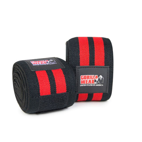 Knee Wraps - 79 Inch - Black and Red - Gorilla Wear South Africa