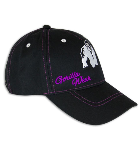 Lady Logo Cap - Black and Purple - Gorilla Wear South Africa