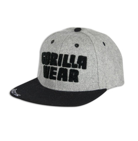 Soft Text Flat Brim - Gray and Black  - Gorilla Wear South Africa