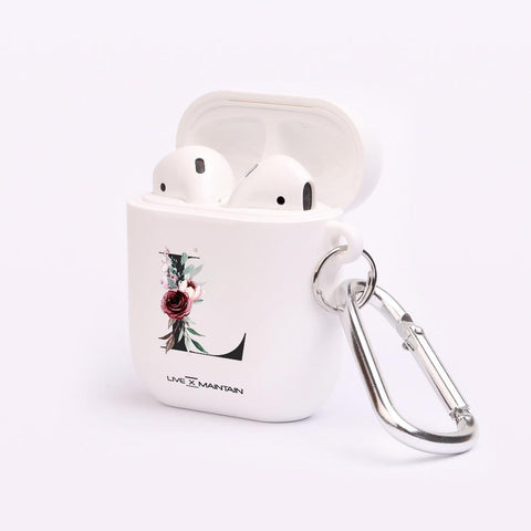 Personalised Floral Initial AirPod Case