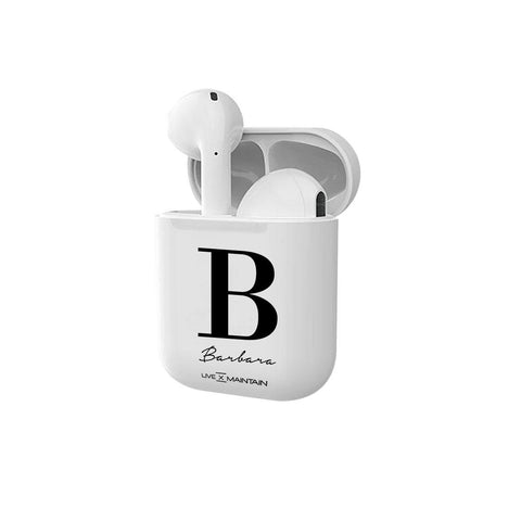 Personalised Name Initial Smart Earbuds