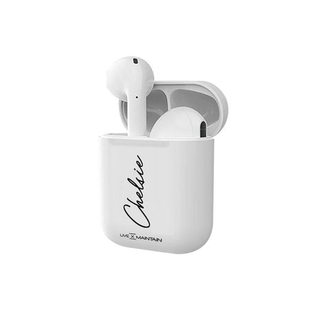 Personalised Side Name Initial Smart Earbuds