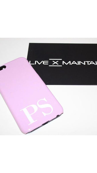 Personalised Pink x White Initials iPhone 7 Plus Case