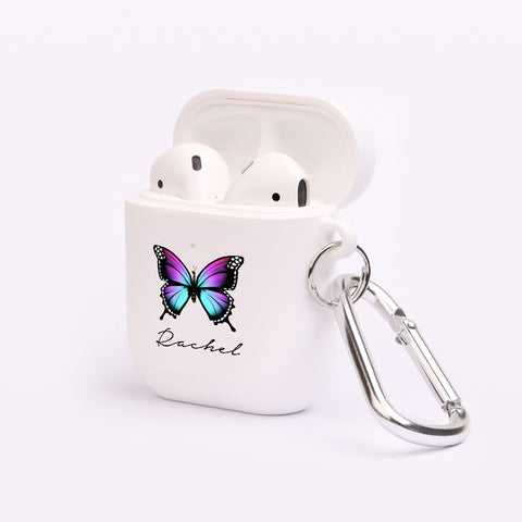 Personalised Butterfly Name AirPod Case