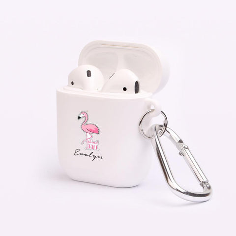 Personalised Flamingo AirPod Case