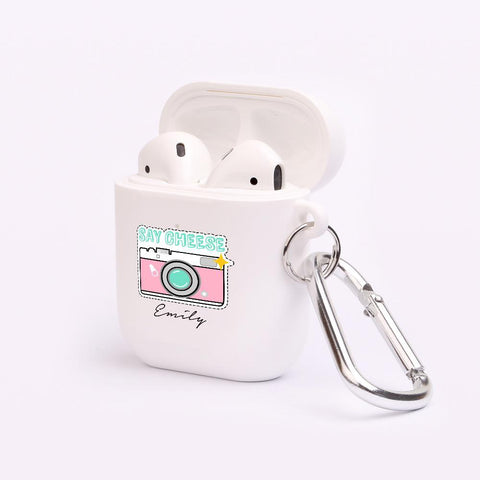 Personalised Say Cheese AirPod Case