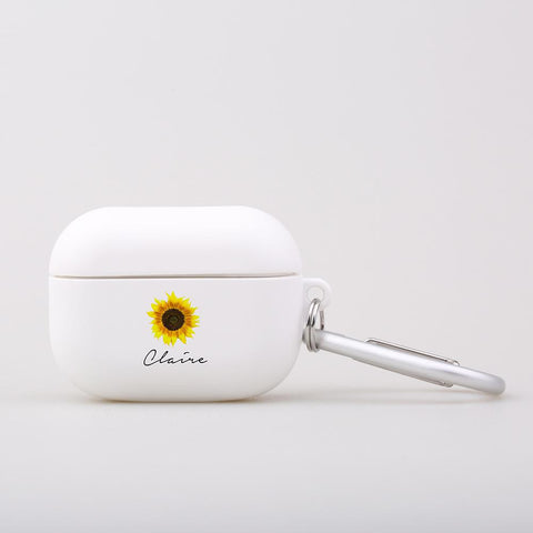 Personalised Sunflower Name AirPod Pro Case