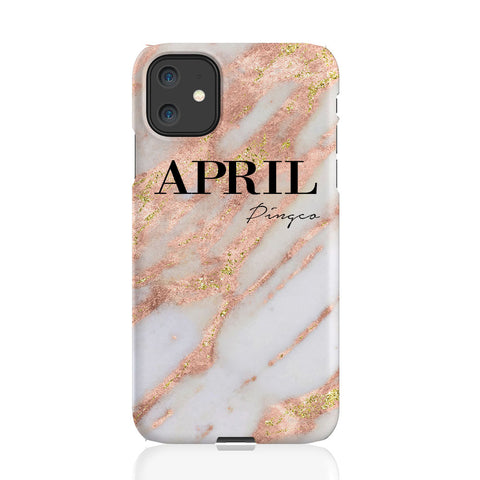 Personalised Aprilia Marble Name iPhone 11 Case