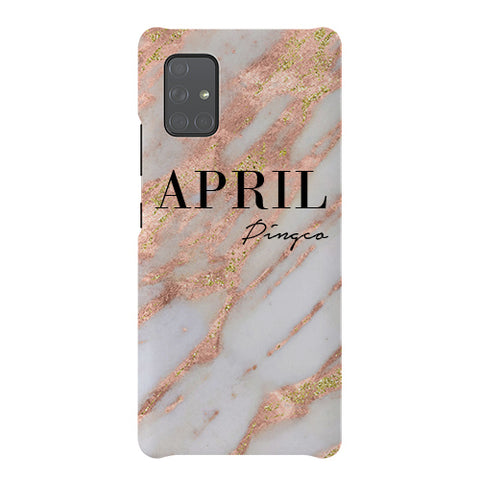 Personalised Aprilia Marble Name Samsung Galaxy A51 5G Case