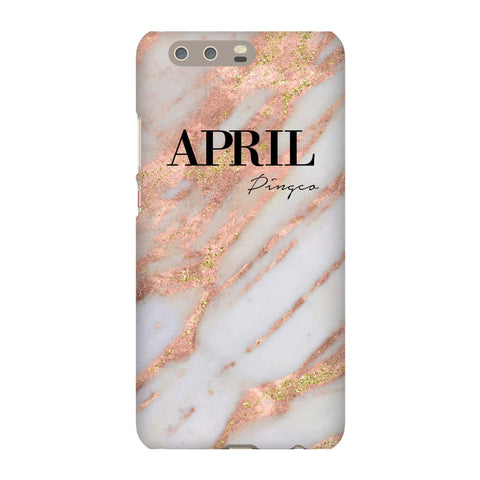 Personalised Aprilia Marble Name Huawei P10 Plus Case