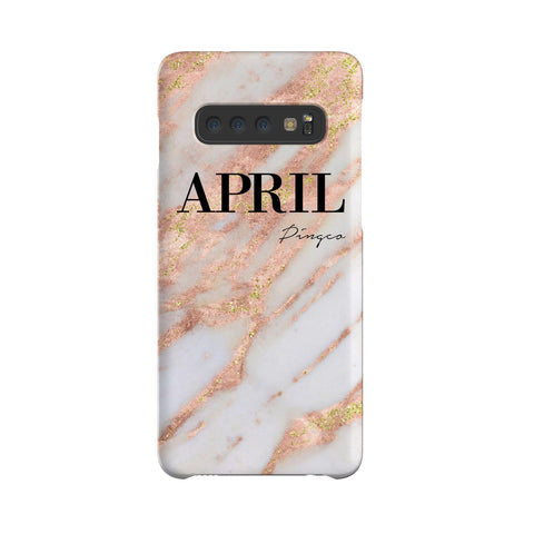 Personalised Aprilia Marble Name Samsung Galaxy S10 Case
