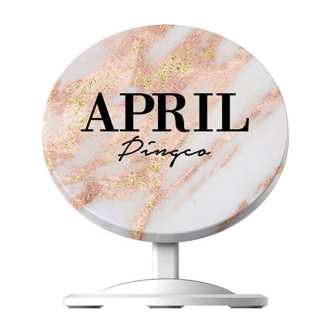 Personalised Aprilia Marble Name Wireless Charger