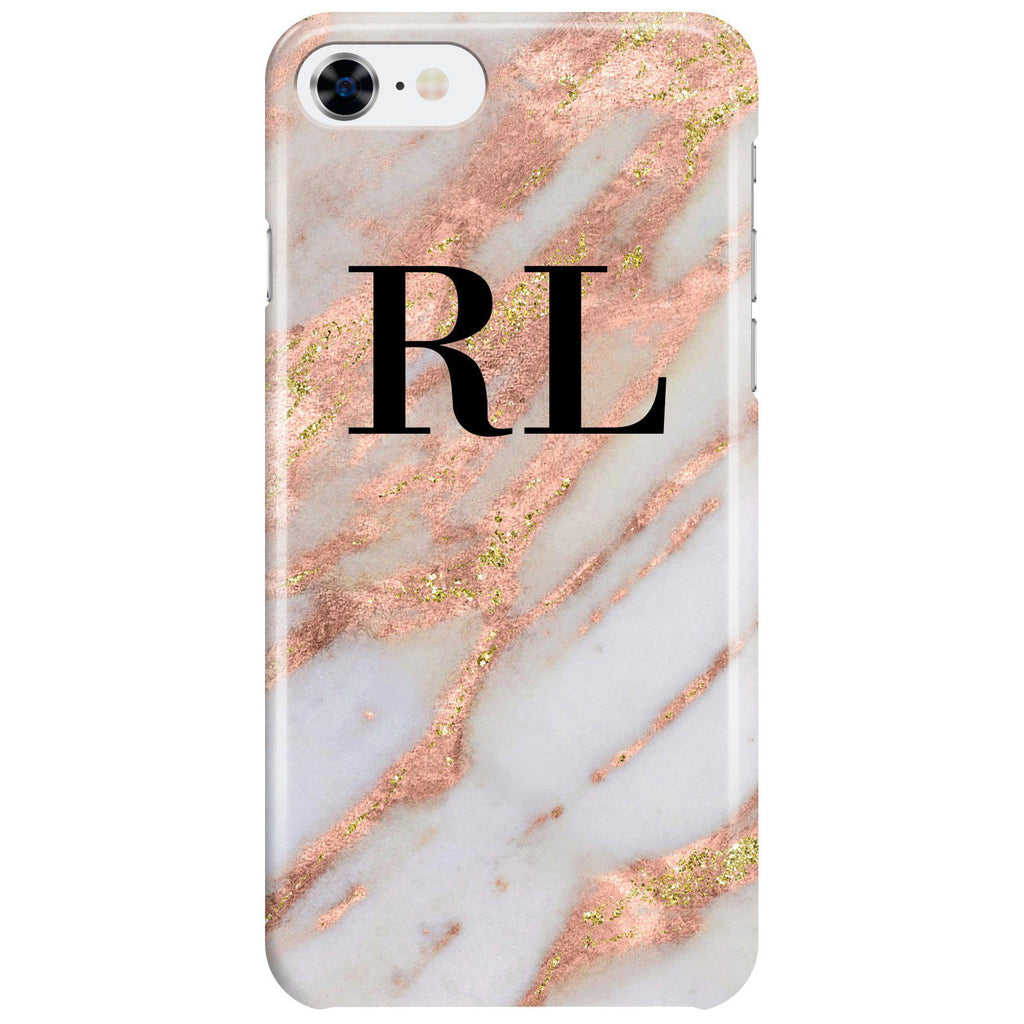 Personalised Aprilia Marble initials iPhone 7 Case