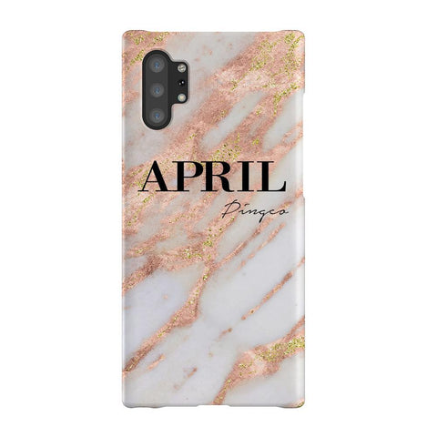 Personalised Aprilia Marble Name Samsung Galaxy Note 10+ Case