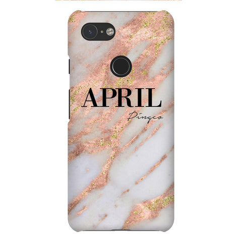 Personalised Aprilia Marble Name Google Pixel 3 Case