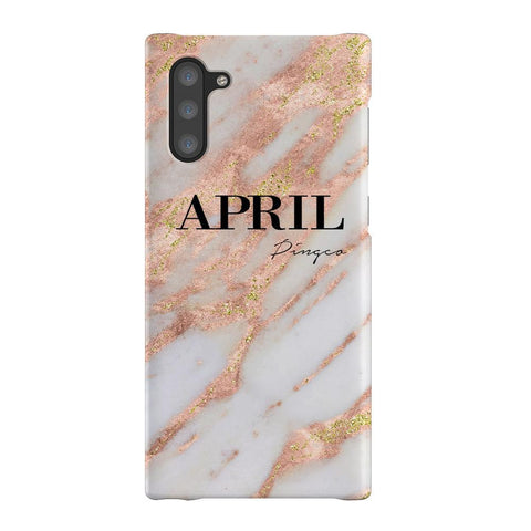 Personalised Aprilia Marble Name Samsung Galaxy Note 10 Case