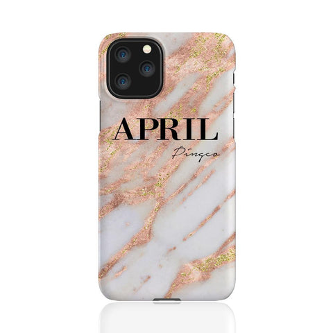 Personalised Aprilia Marble Name iPhone 11 Pro Case