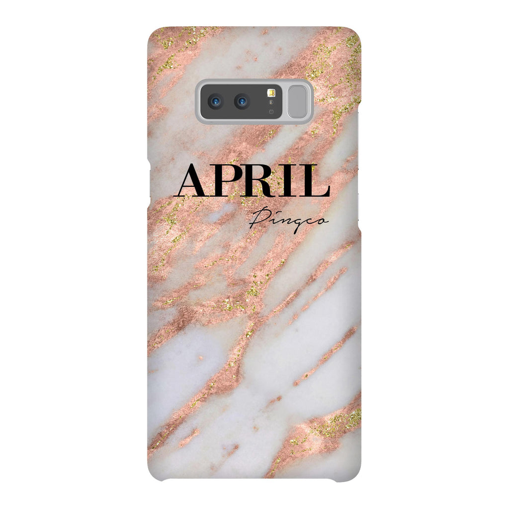 Personalised Aprilia Marble Name Samsung Galaxy Note 8 Case