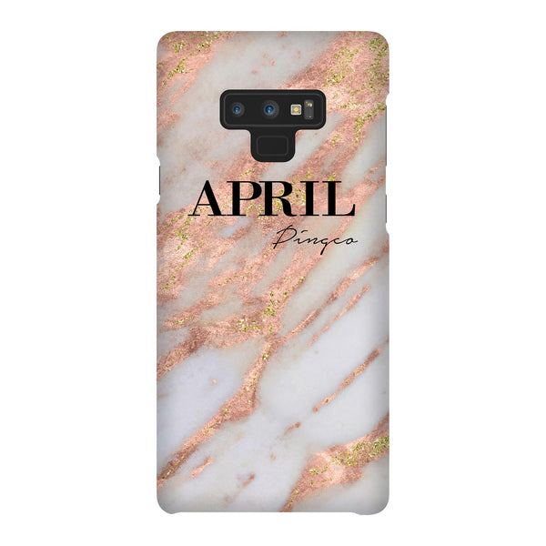 Personalised Aprilia Marble Name Samsung Galaxy Note 9 Case