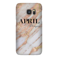 Personalised Aprilia Marble Name Samsung Galaxy S7 Edge Case