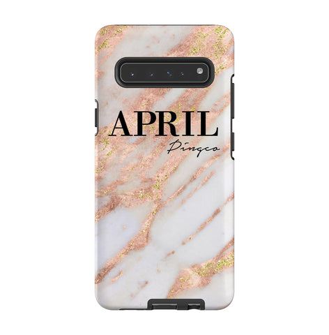 Personalised Aprilia Marble Name Samsung Galaxy S10 5G Case