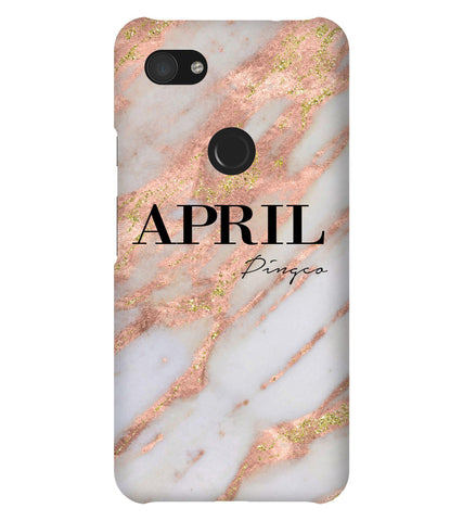 Personalised Aprilia Marble Name Google Pixel 3a XL Case