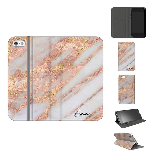 Personalised Aprilia Marble initials iPhone 5/5s/SE Case