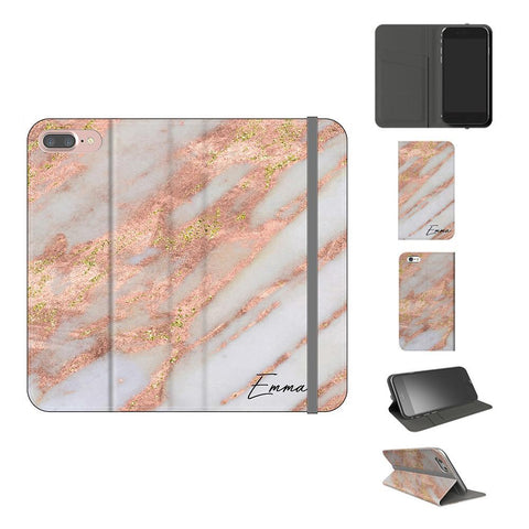 Personalised Aprilia Marble Initials iPhone 8 Plus Case
