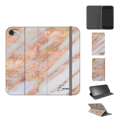 Personalised Aprilia Marble initials iPhone 8 Case