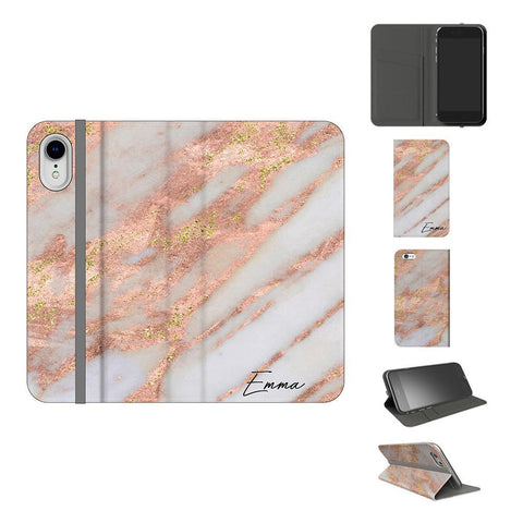 Personalised Aprilia Marble Initials iPhone XR Case