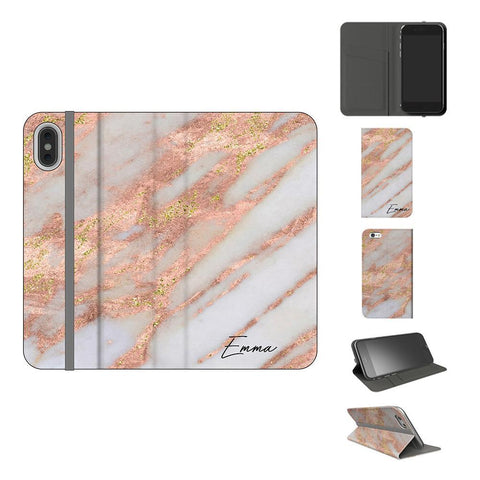 Personalised Aprilia Marble Initials iPhone XS Case
