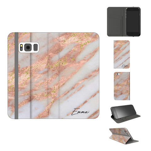 Personalised Aprilia Marble Name Samsung Galaxy S8 Plus Case