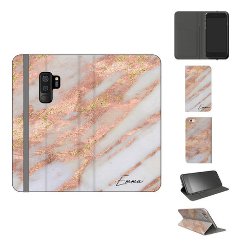 Personalised Aprilia Marble Name Samsung Galaxy S9 Plus Case