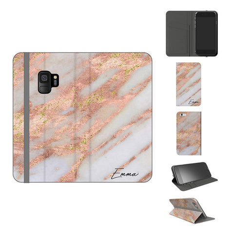 Personalised Aprilia Marble Initials Samsung Galaxy S9 Case