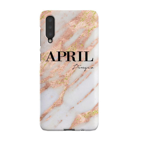 Personalised Aprilia Marble Name Samsung Galaxy A50 Case