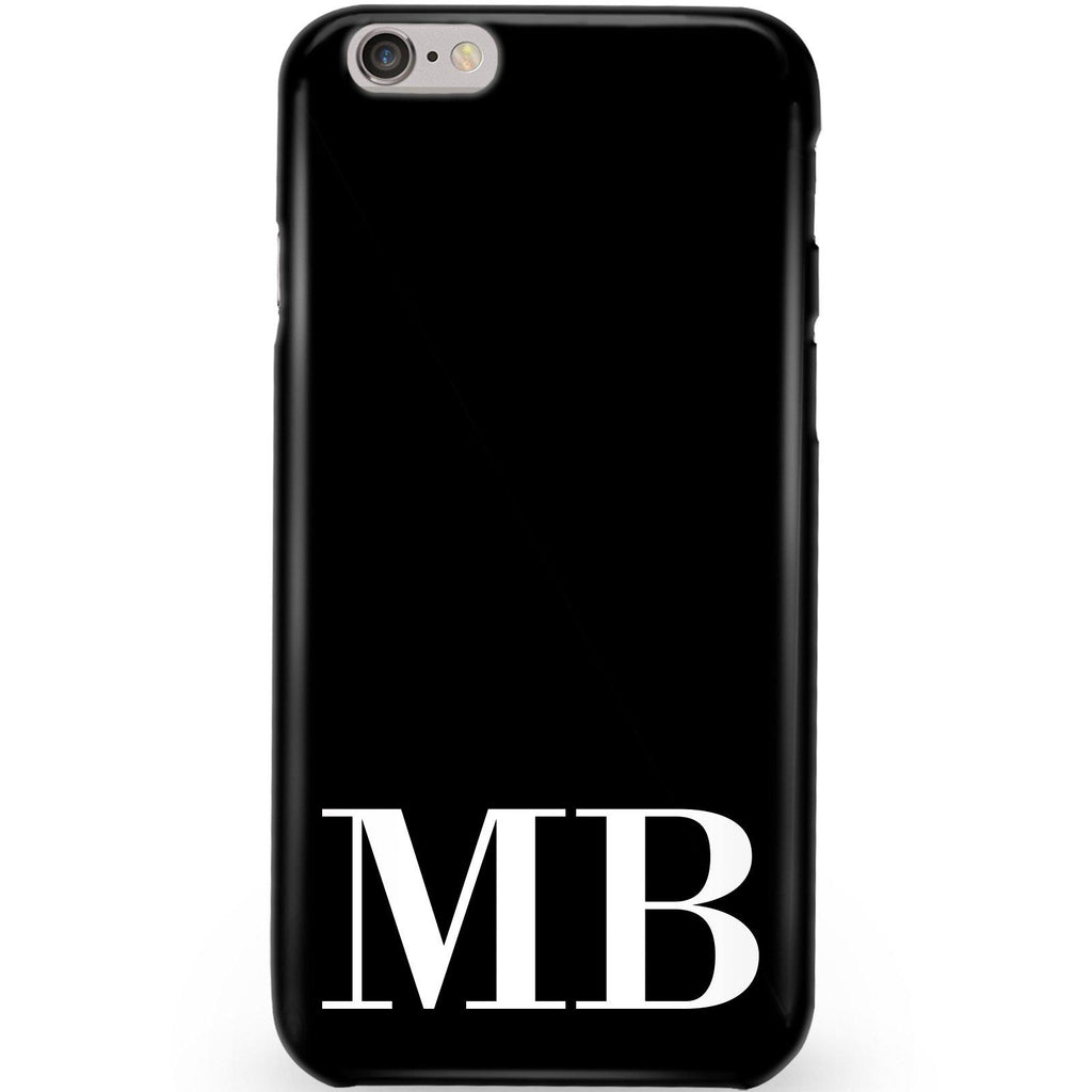 Personalised Black x White Initials iPhone 6/6s Case